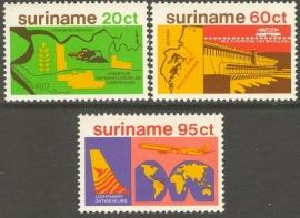 Suriname Republiek 136/138 Economische Ontwikkeling 1978 Postfris