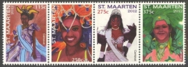 Sint Maarten  75/78 Carnaval 2012 Postfris