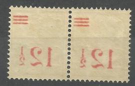 Nederlands Indië 171 Hulpuitgifte Postfris (spiegeldruk in paar)