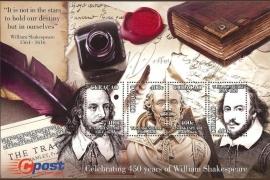 Curaçao Status Aparte 210 Blok 450e Geboortedag William Shakespeare 2014 Postfris