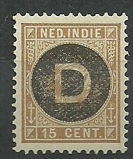 Nederlands Indië Dienst  3 15ct 1892-1897 Postfris (2)