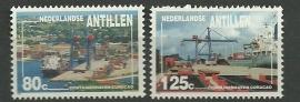 Nederlandse Antillen 1006/1007 Containerhavens Curaçao Postfris