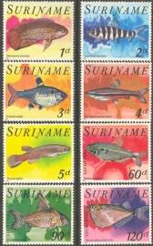 Suriname Republiek 128/135 Luchtpost Vissen 1978 Postfris