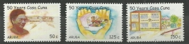 Aruba 373/375 50 Jaar Casa Cuna Kinderopvanghuis Postfris