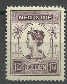 Nederlands Indië 133C 1¾ GLD Koningin Wilhelmina Postfris (1)