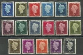 Suriname 257/273 Wilhelmina Hartz Postfris