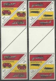 Suriname Republiek  823/824 TBBP B U.P.A.E. 1994 Postfris
