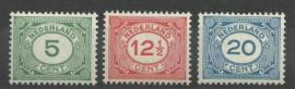 Nvph 107/109 Cijferzegels Postfris (3)
