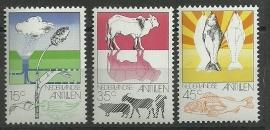 Nederlandse Antillen 522/524 Postfris