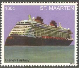 Sint Maarten 162/163 Cruiseschepen 2013 Postfris