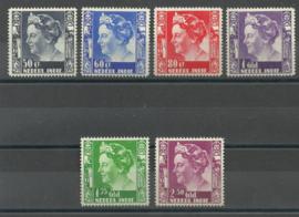 Nederlands Indië 205/210 Koningin Wilhelmina Postfris