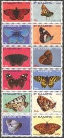 Sint Maarten  53/64 Vlinders 2012 Postfris