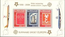 Suriname Republiek 1361 Blok 50 Jaar Europazegels 2006 Postfris