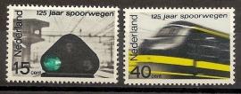 Nvph  818/819 125 Jaar Spoorwegen Postfris