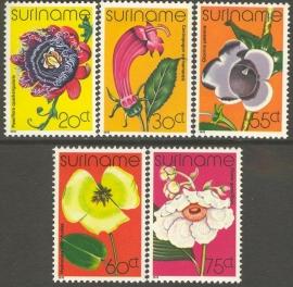 Suriname Republiek 108/112 Orchideeën 1978 Postfris