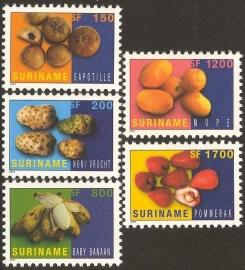 Suriname Republiek 1118/1122 Surinaamse Vruchten 2001 Postfris