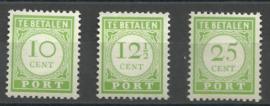 Curaçao Port 31/33 Cijfer en waarde in Geelgroen (Engelse Druk) Postfris (1)