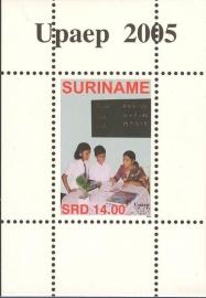 Suriname Republiek 1340 Blok UPAEP 2005 Postfris