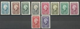 Suriname 220/243 Koningin Wilhelmina American Banknote Ongebruikt