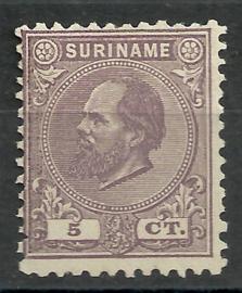 Suriname   5D (11½ × 12)  5ct Willem III Ongebruikt (1)