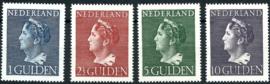 Nvph 346/349 Hoge Waarden Konijnenburg Postfris + Certificaat ( 6)