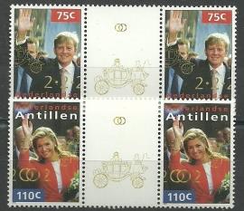 Nederlandse Antillen 1376a/1377a Koninklijk Huwelijk Postfris