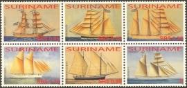 Suriname Republiek 1320/1325 Zeilschepen 2005 Postfris