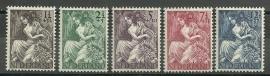 Nvph 449/453 Nationale- Hulpzegels Postfris