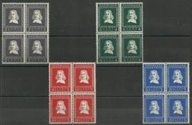 Nvph 578/581 Riebeeck in Blokken Postfris