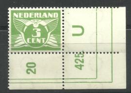 Nvph 175 3 ct   met Etsingnummer Postfris