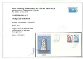 FDC E27 Onbeschreven met open klep + Befund (3)