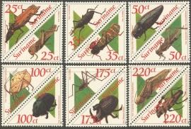 Suriname Republiek  764/775 Surinaamse Kevers 1993 Postfris