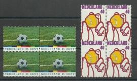 Nvph. 1050/1051 Sportzegels in Blokken Postfris