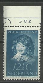 Nvph 304 12½ ct Kinderzegel 1937 Postfris met Etsingnummer