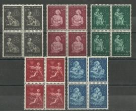 Nvph 423/427 Winterhulp in Blokken Postfris