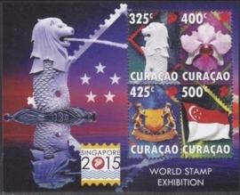 Curaçao Status Aparte 293 Singapore Wereld Postzegeltentoonstelling 2015 Postfris