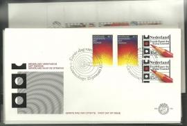 FDC Jaargang 1977 compleet onbeschreven met open klep E154/E162