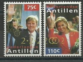 Nederlandse Antillen 1376/1377 Koninklijk Huwelijk Postfris