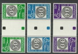 Suriname Republiek  776/778 TBBP A Int. Postzegeltent. Brasiliana 1993 Postfris