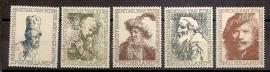 Nvph 671/675 Rembrandt 1956 Postfris