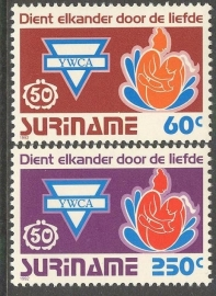 Suriname Republiek  738/739 50 Jaar Y.W.C.A. 1992 Postfris
