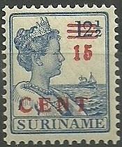 Suriname 113 15ct op 12½ct Hulpuitgifte Postfris (koopje)