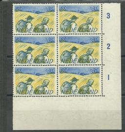 Plaatfout  514 P1 + P2 + PM2 in hoekblok Postfris