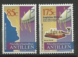 Nederlandse Antillen 1118/1119 100 jaar Radiocommunicatie Postfris