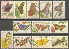 Suriname Republiek 356/367 Vlinders 1983 Postfris