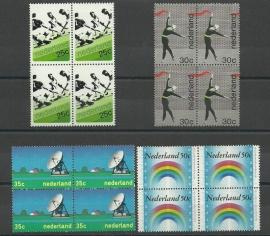 Nvph. 1032/1035 Gelegenheidszegels in Blokken Postfris