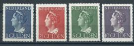 Nvph 346/349 Konijnenburg Hoge Waarden Ongebruikt (3)