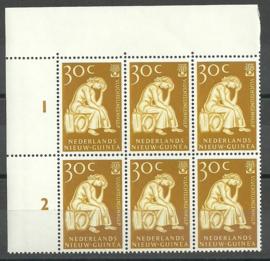 Nederlands Nieuw Guinea 62 PM in hoekblok Postfris