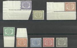 Nederlands Indië  40/47 Cijferzegels 1902/1909 Postfris (3)