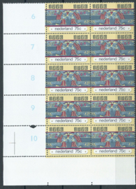 Plaatfout 1091 PM1  in blok Postfris